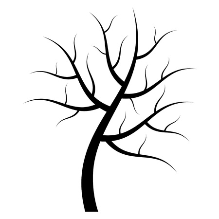 arboles secos: vector silueta de árbol