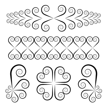 vector swirl ornaments Vector