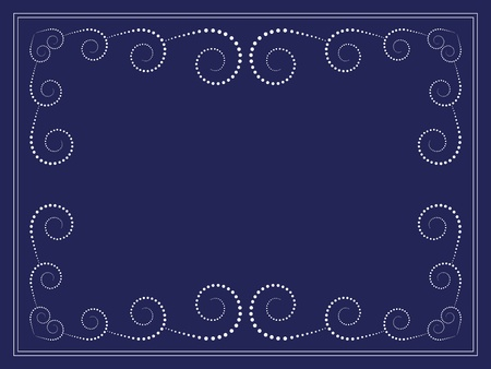 vector dots swirl frame Vector