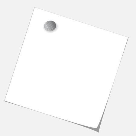 vector blank paper sheet nailed by nail Vector