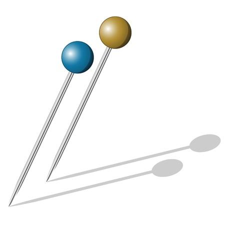 vector push pins Vector