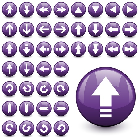 refresh button: vector arrow buttons