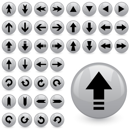 previous: vector arrow buttons