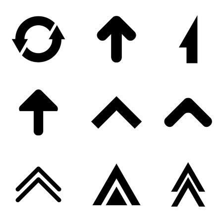 siluetas: vector arrows collection