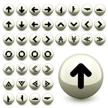 turn up: vector arrow buttons