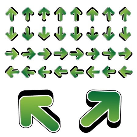 vector 3D arrows Stock Vector - 11487389