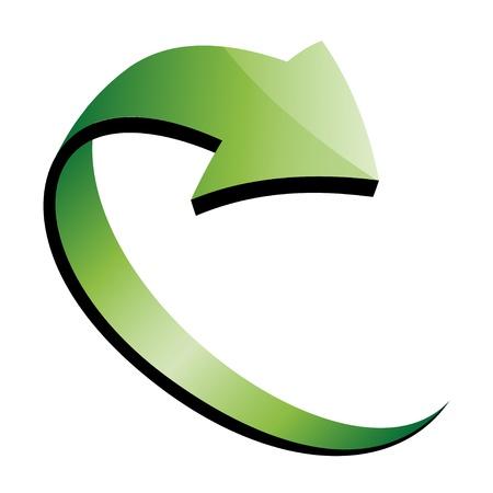 vector 3d green arrow