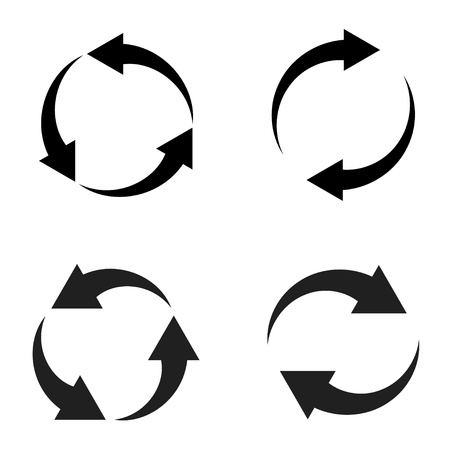 flechas de vectores de recarga Ilustración de vector