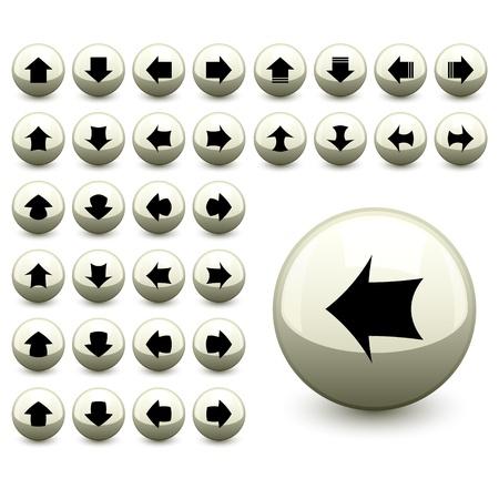 vector arrow buttons Stock Vector - 11486921