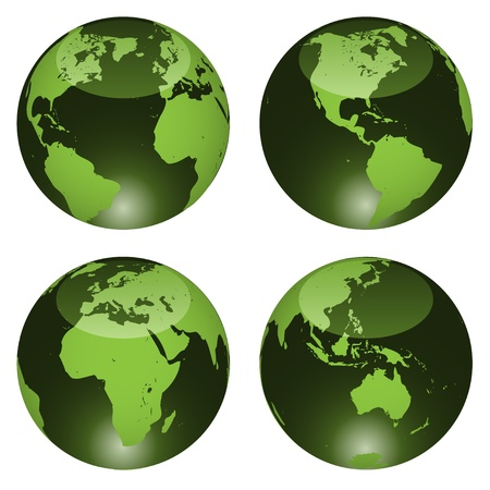 vector glossy globes Stock Vector - 11487257