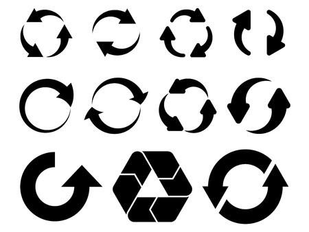 move arrow icon: vector circular flechas