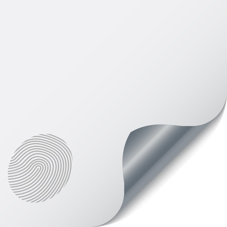 authentication: vector page with a fingerprint Illustration
