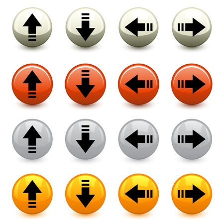 back up: vector arrow buttons