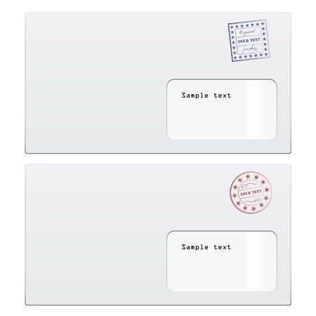 vector envelopes with a stamp Stock Vector - 11486884
