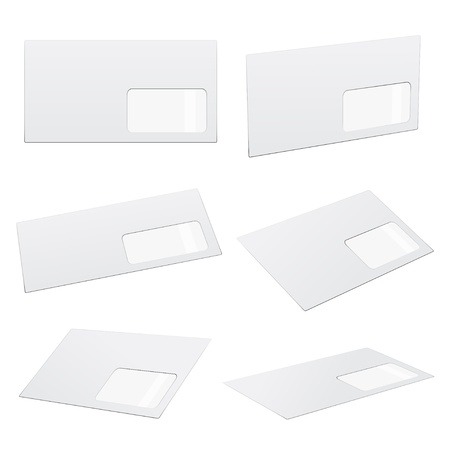 vector white envelopes Vector