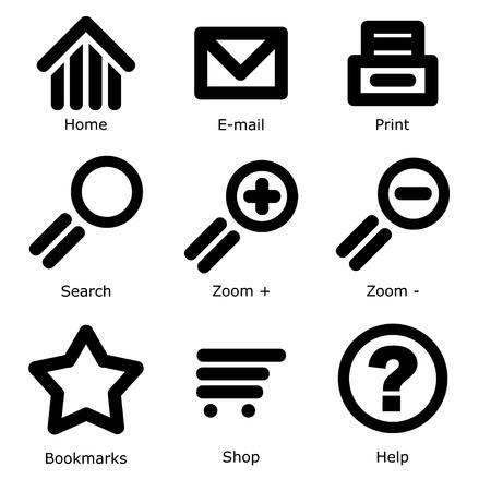 vector web icons Stock Vector - 11486464