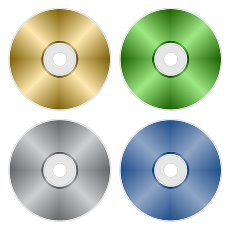 rom: vector compact discs Illustration