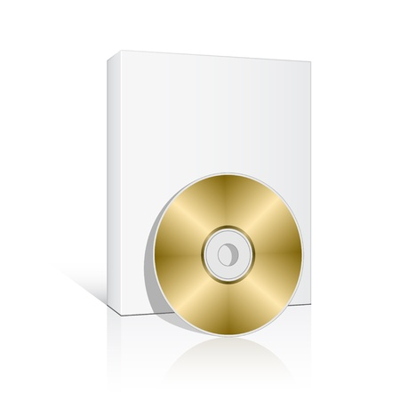 compact disc: vector 3d box with compact disc