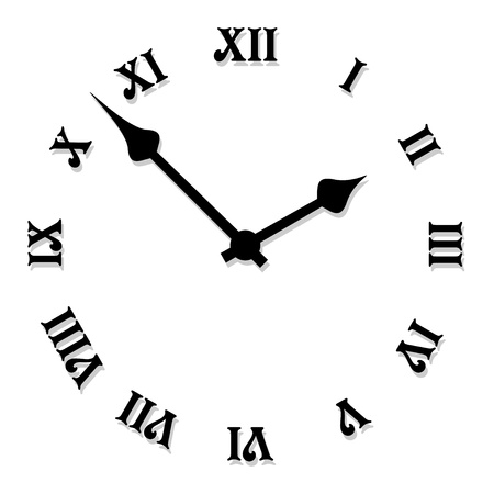 object with face: vector clock face