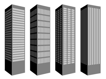 vector skyscraper symbols Vector