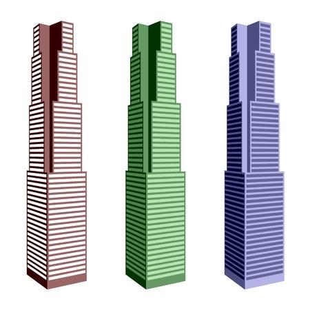 vector skyscraper symbols Stock Vector - 11486392