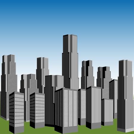 vector skyscrapers Stock Vector - 11486873