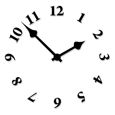 arabic number: vector clock face