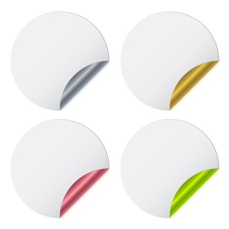 Stickers with metallic backs Stock Vector - 11486458