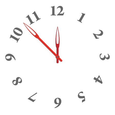 vector clock face - easy change time Illustration