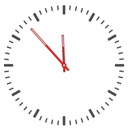 dessin au trait: cadran de l'horloge vecteur - le temps de changement facile