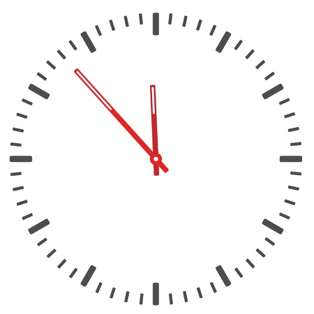 face silhouette: vector clock face - easy change time Illustration