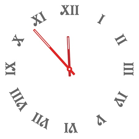 numerical: vector clock face - easy change time Illustration