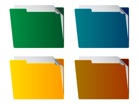 vector folders with paper sheet Vector