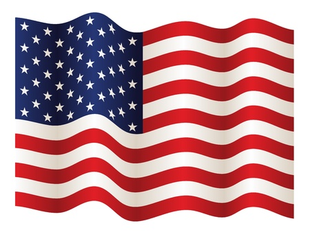 vector USA flag Stock Vector - 11486298