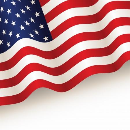 bandera americana: vector de EE.UU. bandera