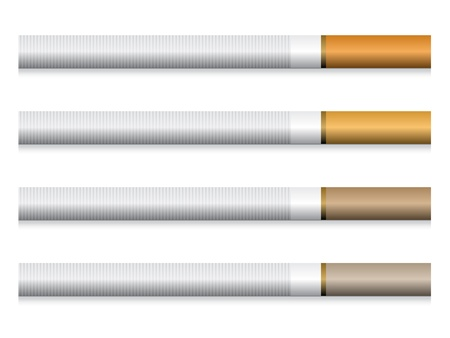 smoldering: vector cigarettes - orange filter