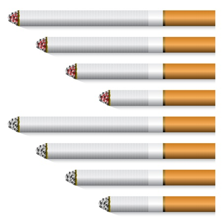 tobacco product: vector cigarettes - orange filter