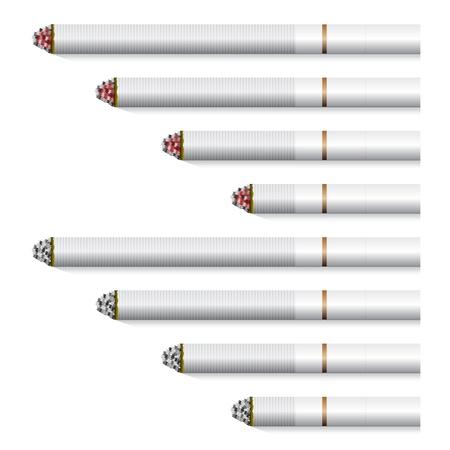 vector cigarettes - white filter Stock Vector - 11487310