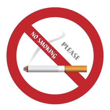 pernicious: vector no smoking sign Illustration