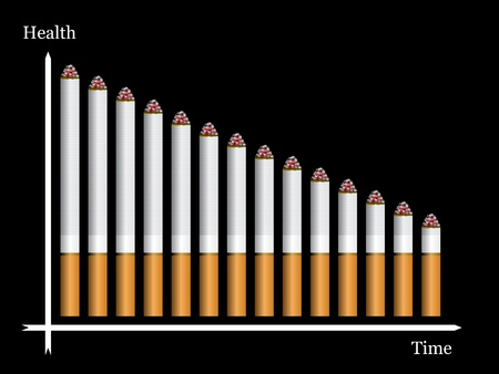 smoldering cigarette: vector graph from cigarettes