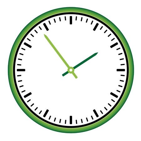 vector wijzerplaat - eenvoudig wisselen van de tijd Vector Illustratie