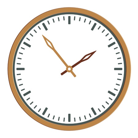 vector clock face - easy change time Stock Vector - 11486387