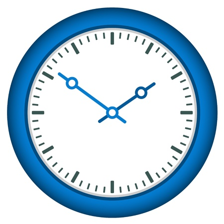 vector clock face - easy change time Stock Vector - 11486360