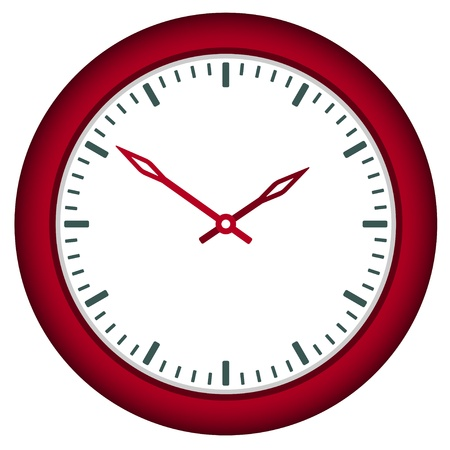 vector clock face - easy change time Stock Vector - 11486357