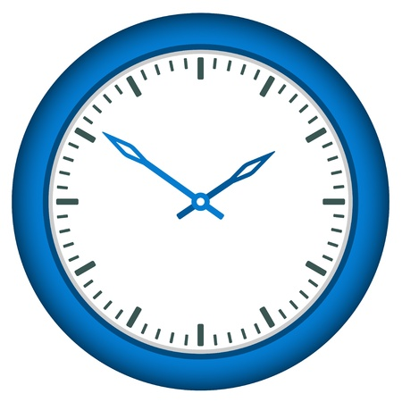 vector clock face - easy change time Stock Vector - 11486359