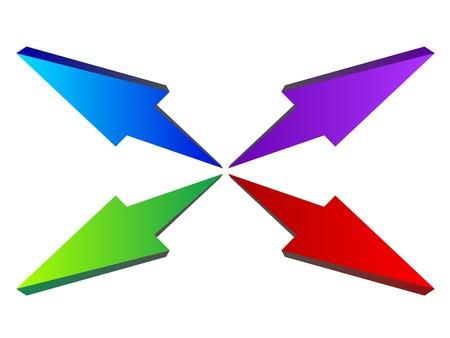 vector 3D arrows composition Vector