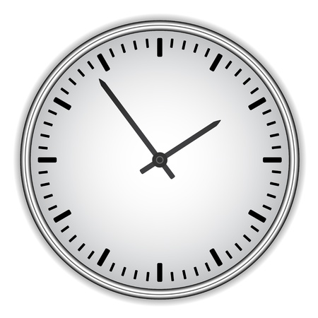 shadow face: vector clock face - easy change time Illustration