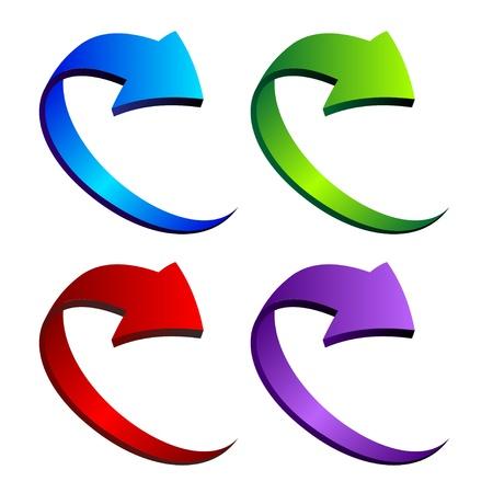 Vector 3D Pfeile