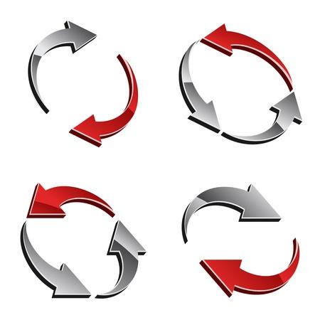reload: vector 3d reload arrows