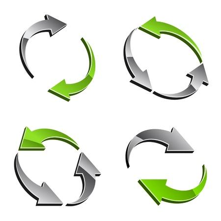 opfrissen: vector 3d reload pijlen Stock Illustratie